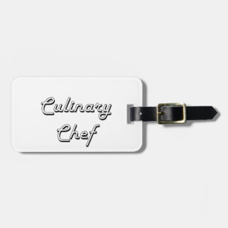 Culinary Chef Classic Job Design Tag For Bags
