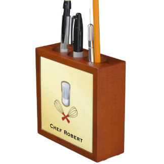 Culinary Chef Desk Organizer Pencil Holder