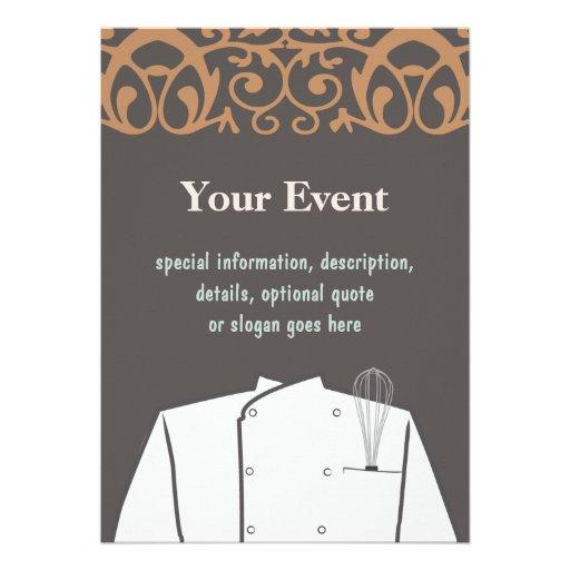 Culinary Chef Invitation