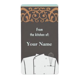 Culinary Chef Label