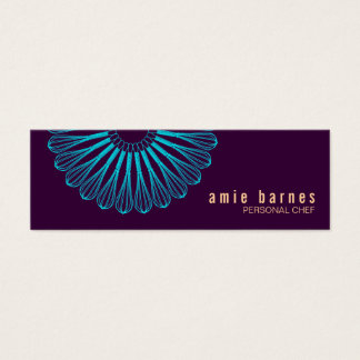Culinary Chef Whisk Logo Purple Business Card