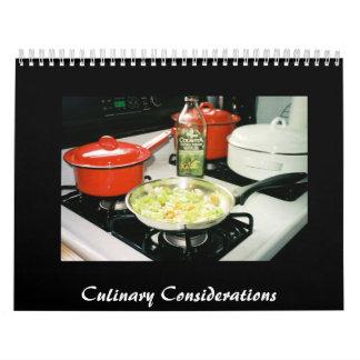 Culinary Considerations Calendar