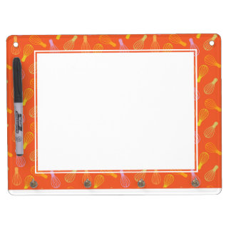 Culinary Illustration Dry Erase Board With Keychain Holder