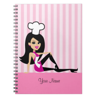 Culinary Notebook with Cool Retro Cartoon