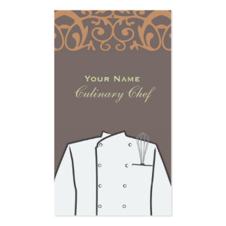 Culinary Personal Chef Catering Restaurant Business Card