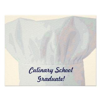 Culinary School Graduate Personalized Invites