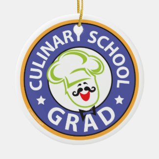 Culinary School Graduation Ceramic Ornament