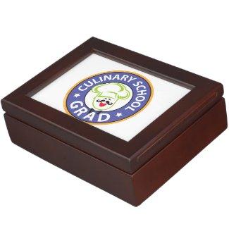 Culinary School Graduation Keepsake Box