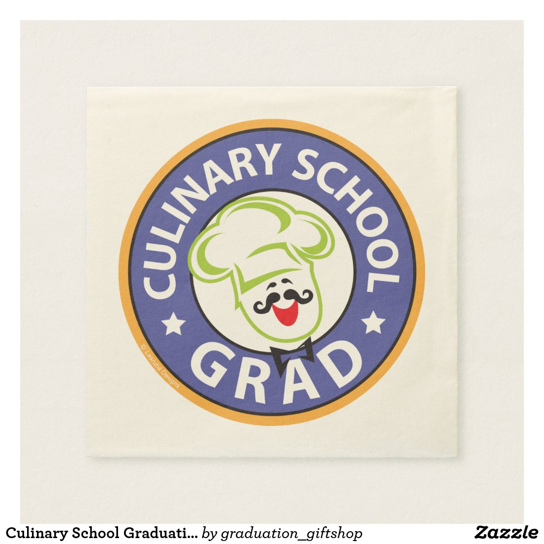 Culinary School Graduation Paper Napkin