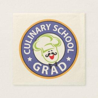 Culinary School Graduation Paper Napkin