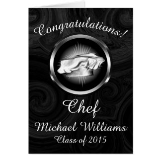 Culinary School Graduation Personalized Greeting Card