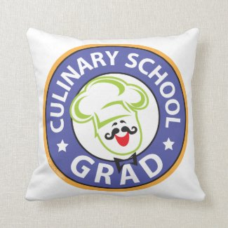 Culinary School Graduation Throw Pillow