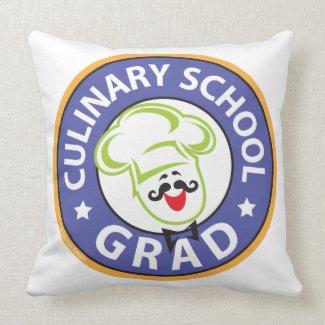 Culinary School Graduation Throw Pillows