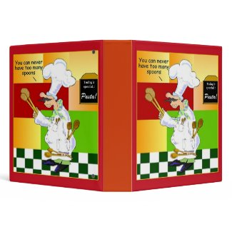 Culinary School Recipe Binder binder
