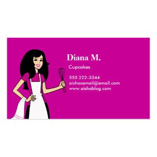Culinary Teacher Cake Decorator Biz Card Business Card