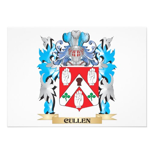 Cullen Coat of Arms - Family Crest Personalized Announcement