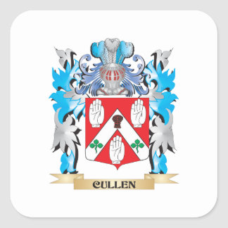 Cullen Coat of Arms - Family Crest Square Sticker