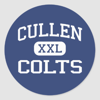Cullen Colts Middle Corpus Christi Texas Classic Round Sticker