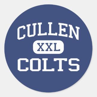 Cullen Colts Middle Corpus Christi Texas Round Sticker