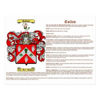 Cullen irlandés significado tarjeta postal