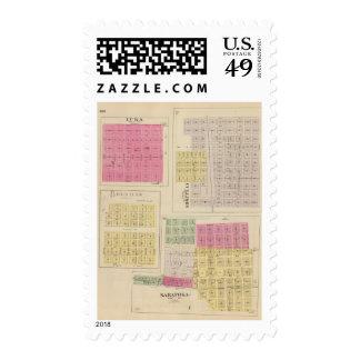 Cullison, Saratoga, Brenham, Kansas Postage Stamp