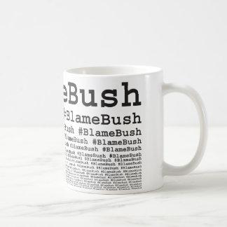 Culpa Bush Tazas De Café