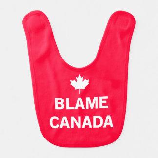 Culpa Canadá Babero Para Bebé
