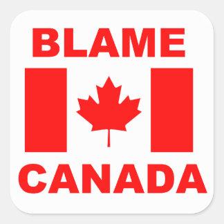 Culpa Canadá Calcomanías Cuadradass