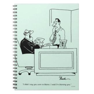 Culpa de la oficina libro de apuntes con espiral