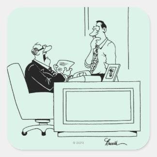 Culpa de la oficina colcomanias cuadradas