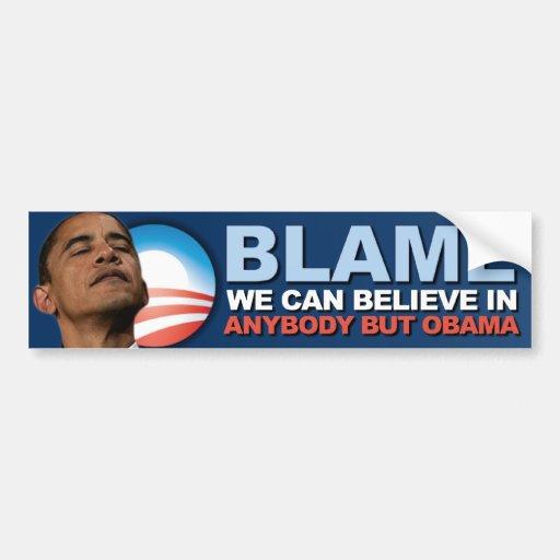 Culpa podemos creer adentro - a Obama anti Etiqueta De Parachoque