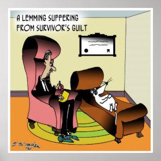 Culpabilidad del superviviente del leming póster