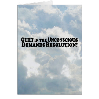 Culpabilidad en el inconsciente - básico tarjeta de felicitación