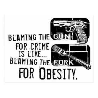 Culpar el arma postal