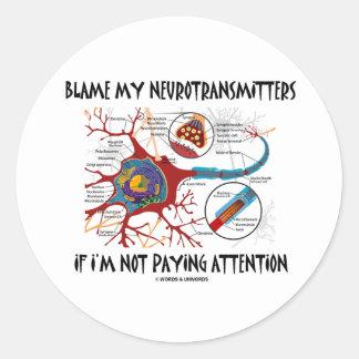 Culpe mis neurotransmisores si no que prestan la etiqueta redonda