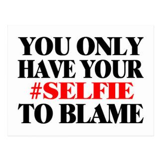 Culpe su Selfie Postales
