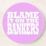 Cúlpelo en los banqueros (la crisis financiera div posavasos para bebidas