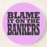 Cúlpelo en los banqueros (la crisis financiera div posavaso para bebida