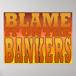 Cúlpelo en trabajador de los bancos antis de los b poster