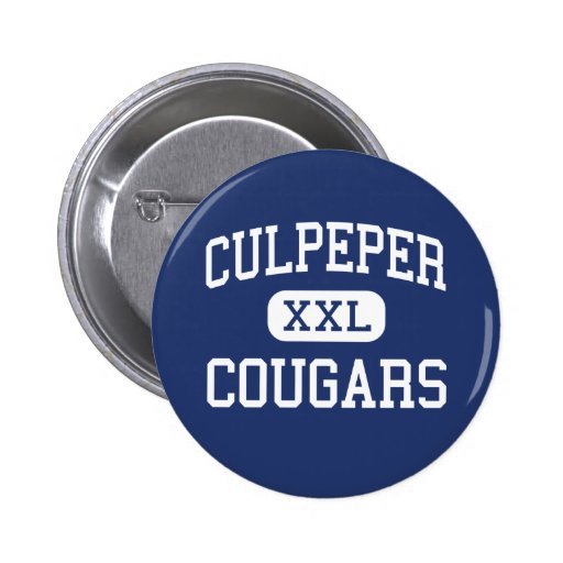 Culpeper Cougars Middle Culpeper Virginia 2 Inch Round Button