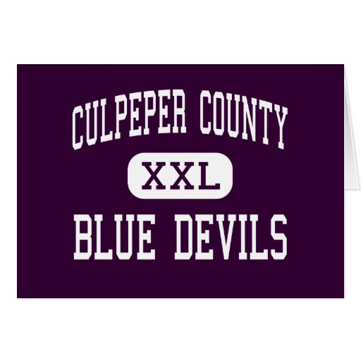 Culpeper County - Blue Devils - High - Culpeper Greeting Card