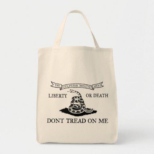 Culpeper Don't Tread on Me Flag Bag