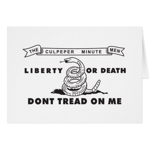 Culpeper Minute Men Flag - Dont Tread on Me Greeting Cards