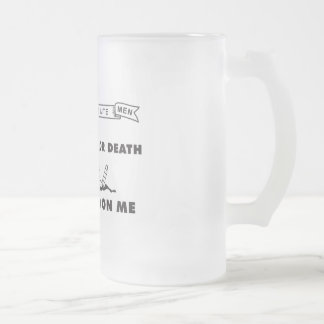 Culpeper Minute Men Flag - Dont Tread on Me Frosted Glass Beer Mug