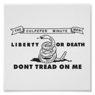 Culpeper Minute Men Flag Poster