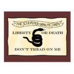 Culpeper Minutemen Flag Post Cards