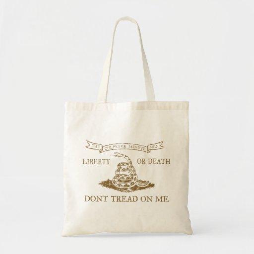 Culpeper no pisa en mí el bolso de la bandera bolsas de mano