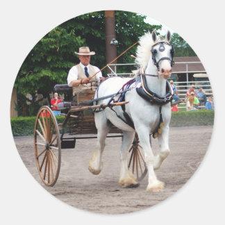 culpeper va draft horse show classic round sticker
