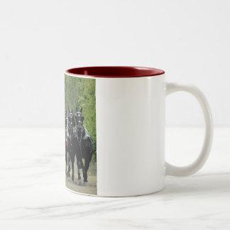 culpeper va draft horse show Two-Tone coffee mug