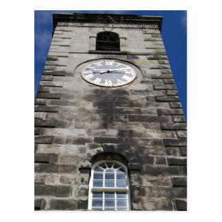 Culross clock tower postcard